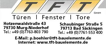 Türen, Fenster, Tore TFT Bauelemente GmbH in Bad Säckingen