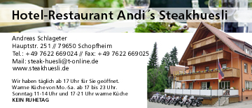 Hotel Restaurant Andi's Steakhüsli in Lörrach