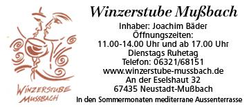 Winzerstube Mußbach  in Neustadt an der Weinstraße