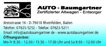 Autohaus Baumgartner in Rheinfelden