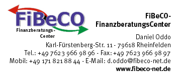 Finanzberatungs-Center FiBeCo in Rheinfelden