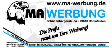 Werbung  MA in Rheinfelden