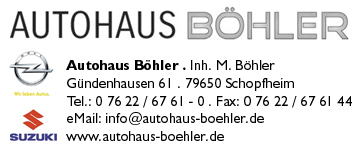 Autohaus Böhler in Schopfheim