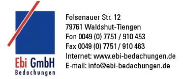 Bedachungen  Ebi  in Waldshut